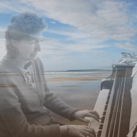 Adrienne Hesketh playing live musical composition on piano