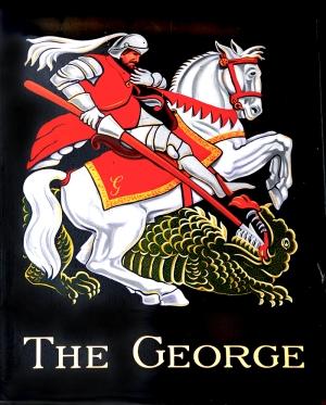 The George pub sign hatherleigh devon