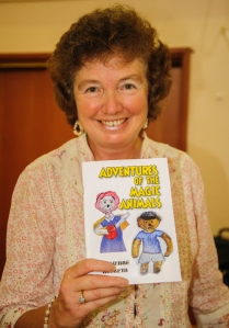ADRIENNE HESKETH LAUCNHING HER BOOK ADVENTURES OF THE MAGIC ANIMALS AT BLACKPOOL SCHOOL PHOTOEDIT  ROBERT HESKETH 2 NEF
