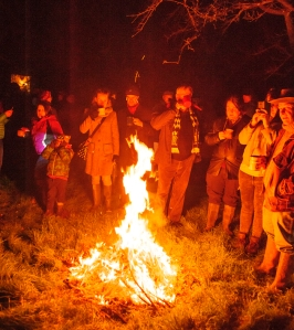 DRINKING CIDER IN THE ORCHARD AT THE WHIMPLE WASSAIL ROBERT HESKETH